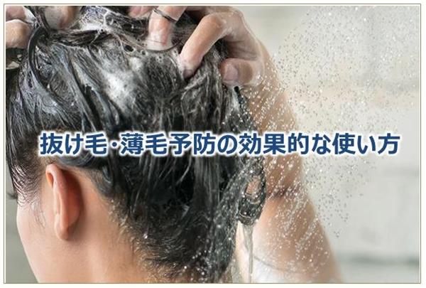 抜け毛・薄毛予防の効果的な使い方