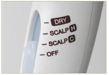 ヤーマン遠赤外線ドライヤーには、「スカルプH」・「スカルプC」・「DRY」の3つのモードがある