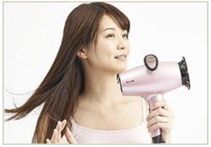 遠赤外線の低温60℃で頭皮と髪の毛を乾かす